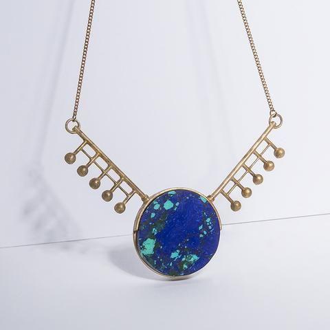 Metalepsis Orbital necklace - unfinished brass