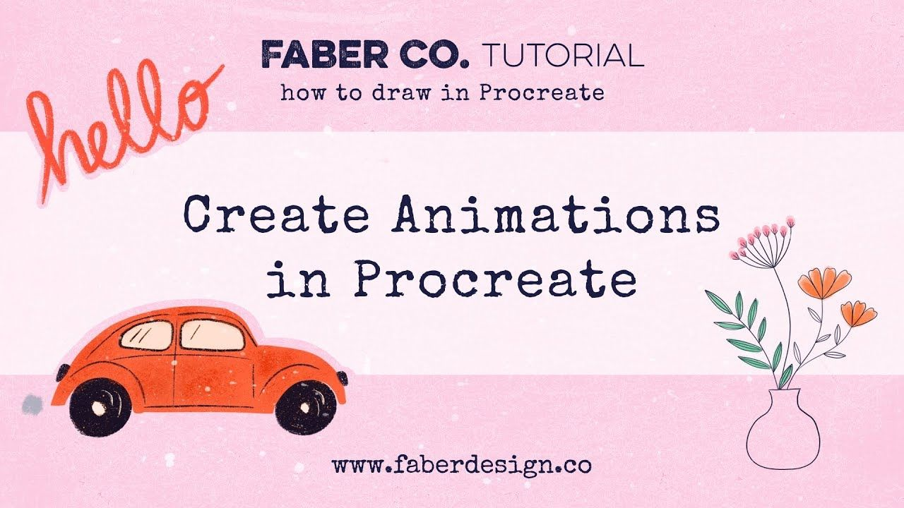 How To Animate In Procreate Faber Co Youtube Tutorial Procreate Tutorial Procreate