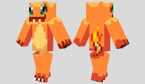Charmander Skin Para Minecraft Minecraft Skins Pinterest - Skins para minecraft pe de pokemon