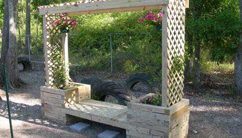 How To Build A Trellis Planter Bench