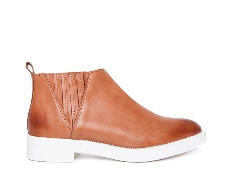 ZILIAN :: Loja Online   sapatos :: RESORT'15 COLLECTION :: Botins em pele camel