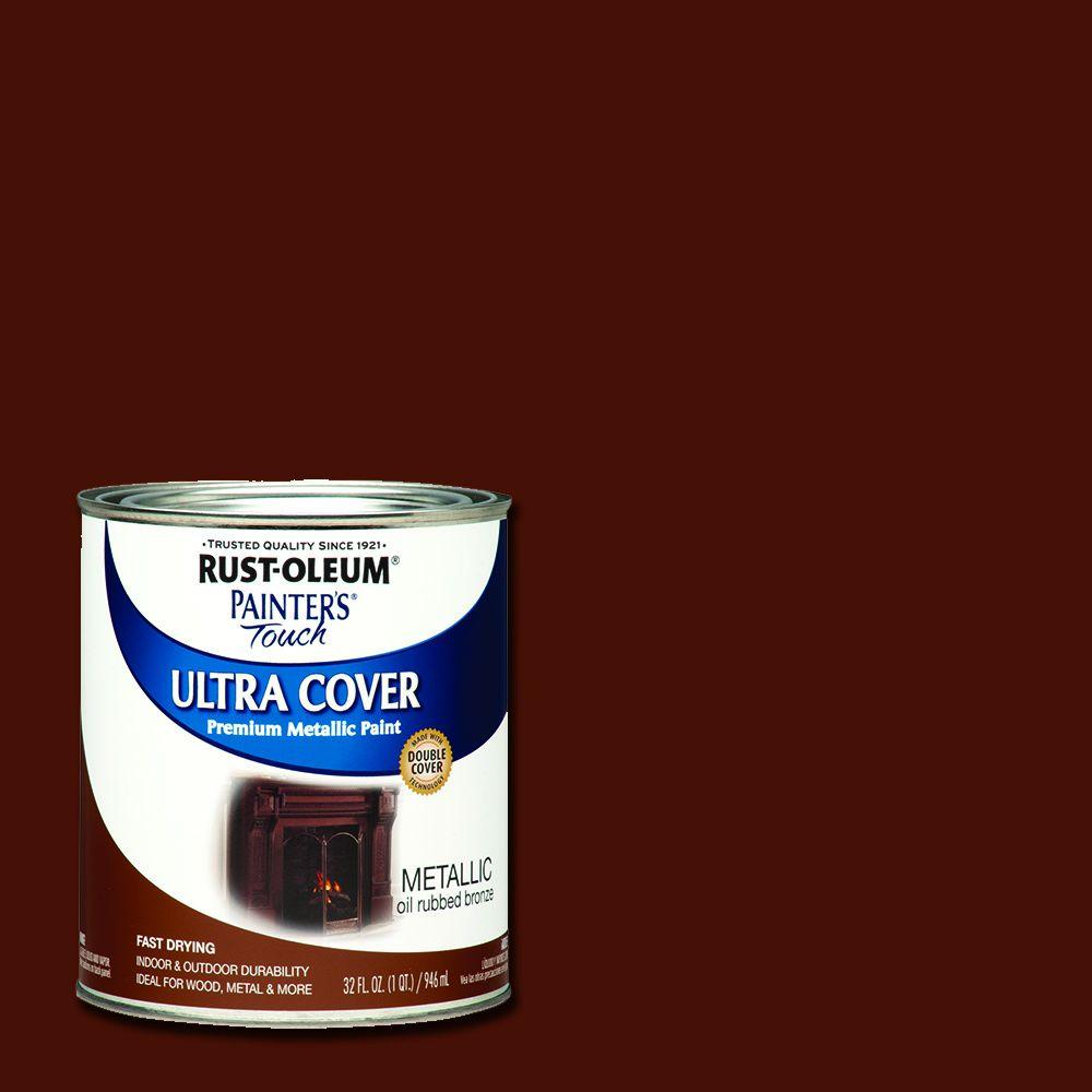 Rust Oleum Painter S Touch 32 Oz Ultra Cover Metallic Oil Rubbed Bronze General Purpose 254101 Rustoleum Oil Rubbed Bronze Oil Rubbed Bronze Paint