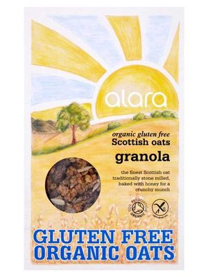 Scottish Oats Granola, Gluten Free, Organic 400g (Alara) - HealthySupplies.co.uk. Buy Online.