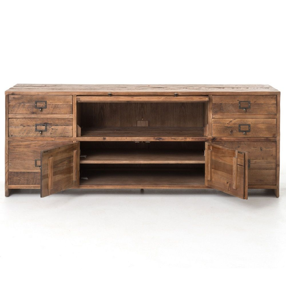 Hughes reclaimed pine media console consoles pine and american