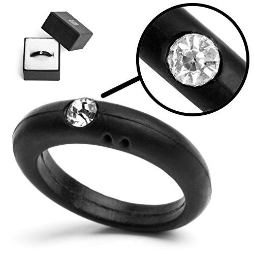 Silicone Wedding Ring For Women Ladies With Diamond Plus Free