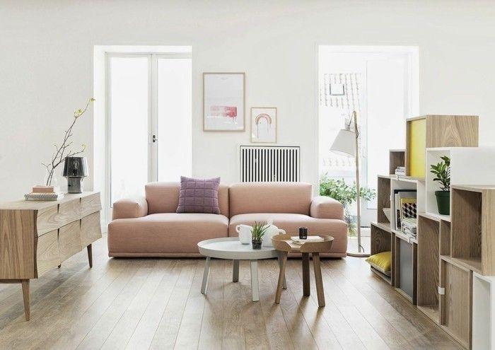 Wohnung Einrichten Ideen Wohnzimmer Skandinavisches Design Pastellfarben