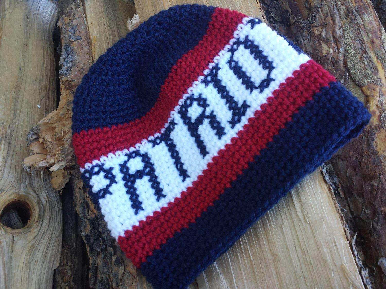 57da2a20 New England Patriots hat, crochet Patriots beanie, Patriots hat ...
