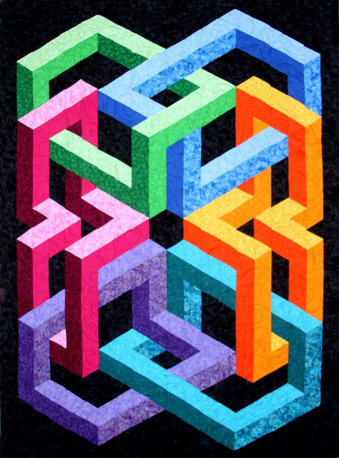 Quilter's Clinic 3D Quilt Patterns | Optical illusion quilts
