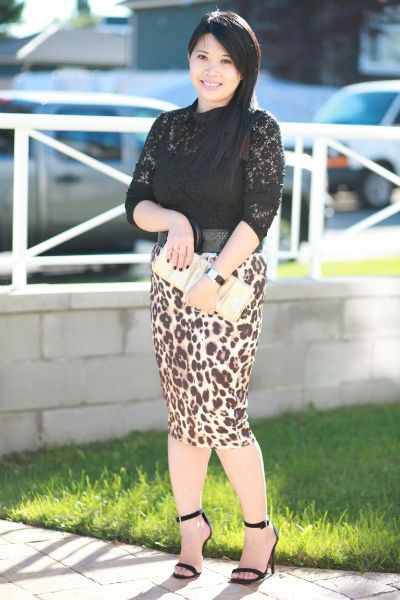 4d219bcdec Leopard and Lace | My Blog | Lace, Lace skirt, Fashion