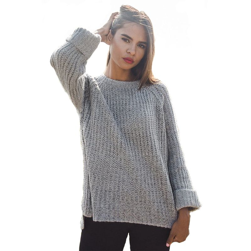 6a78482e73d0e Autumn Winter Long Sleeve Warm Sweater Women 2018 Knitted Jumper Plus Size  Sweaters And Ladies Pullovers Female Tops Pull Femme – Ali Explorer