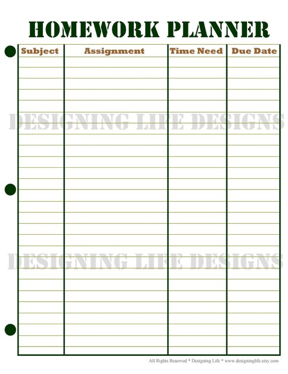picture relating to Homework Planner Printable referred to as Research Planner, Timetable, and Weekly Research Sheet