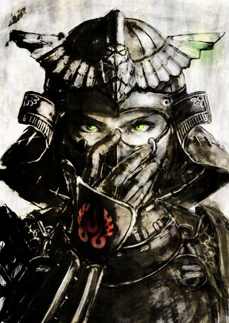 Samurai Mask Com Imagens Samurai Desenho Samurai Guerreiro