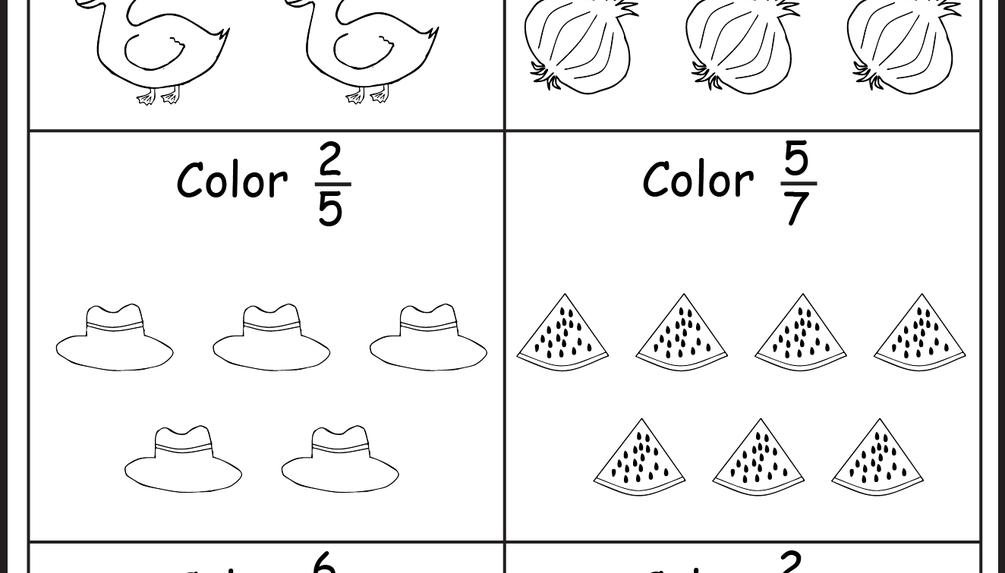 Coloring Fractions - 5 Worksheets   Math   Pinterest   Worksheets ...
