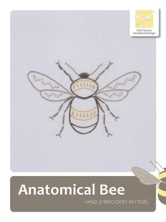Anatomical Bee Embroidery Pinterest Embroidery Embroidery