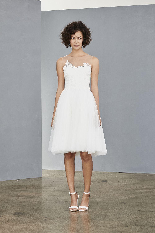 Lw137 Soft Tulle Dress White Short Dress White Dress Amsale Wedding Dress