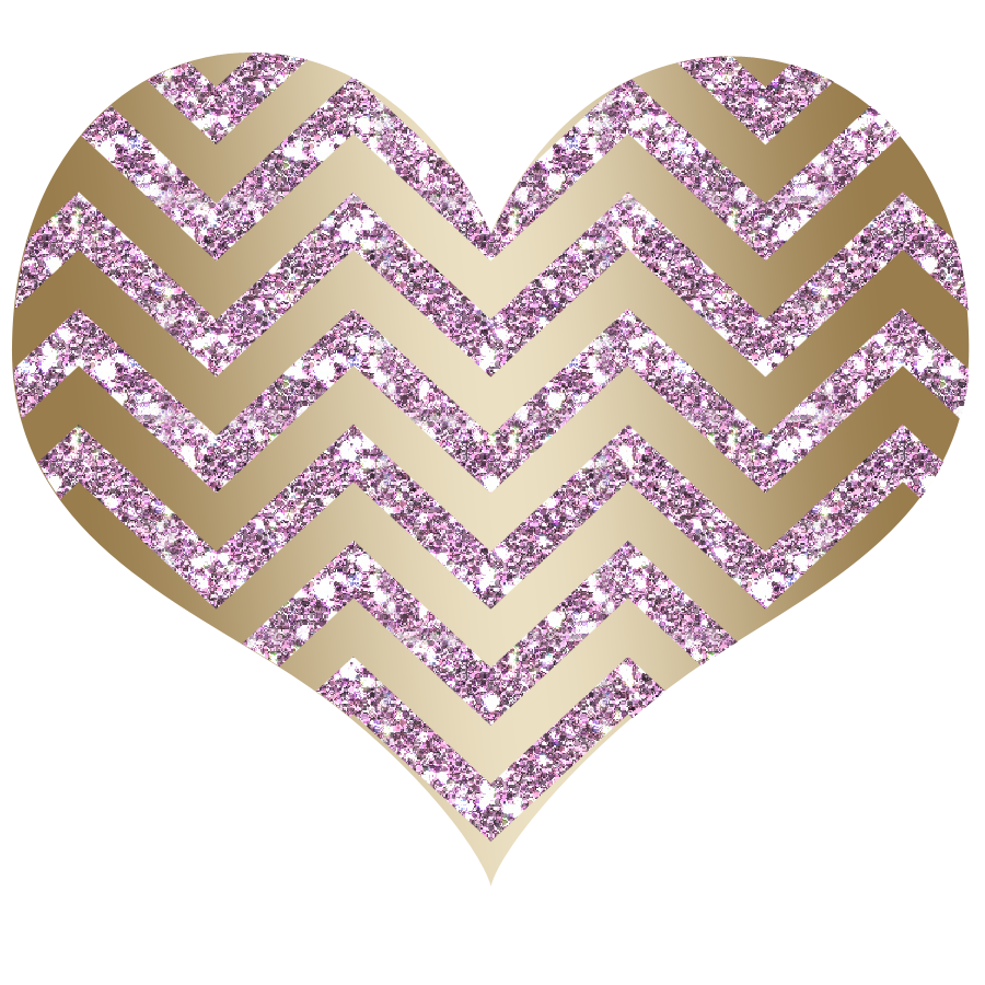 Chevron Heart Glitter Baby Pink Gold Png 900 900 Baby Pink Pink And Gold Pink