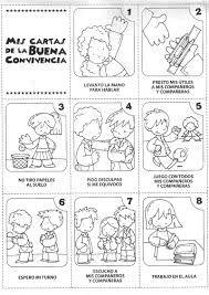 Imagenes Convivencia Escolar Para Colorear Buscar Con Google Elementary Spanish Classroom Rules School Worksheets