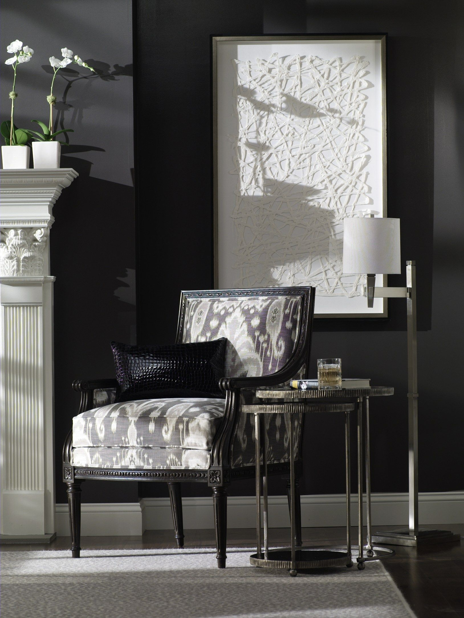 Simply White Living Room Ideas: Simply Smashing - Graphic Modern And Classic Glamour.