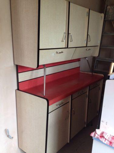 Midcentury French 1950u0027s Kitchen Cupboard Sideboard Unit Cabinet Vintage  Retro