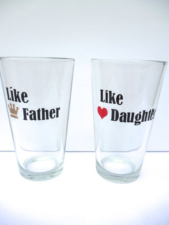 Fathers Day Gift Beer Glass By BonniesBlossoms