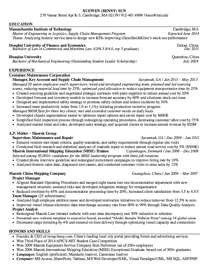 maersk international resume sample http resumesdesign com