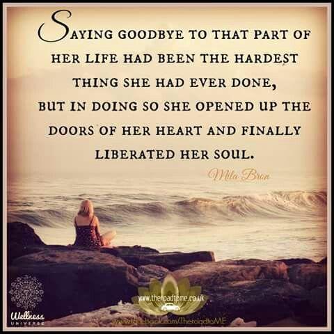 Saying goodbye....