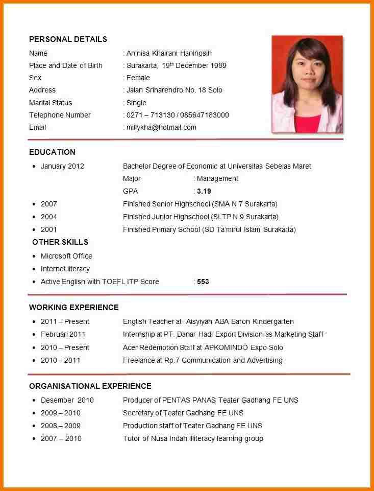 Samples Of Curriculum Vitae Curriculum Vitae Example Good Academic Curriculum Vitae Example
