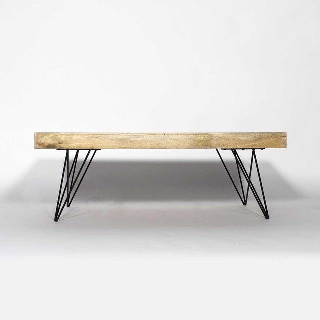 table basse bois metal style scandinave | bt0278x made in meubles