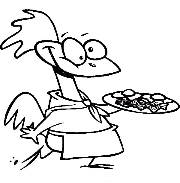 Eggs Bacon And Worms Online Coloring Page | 612x600