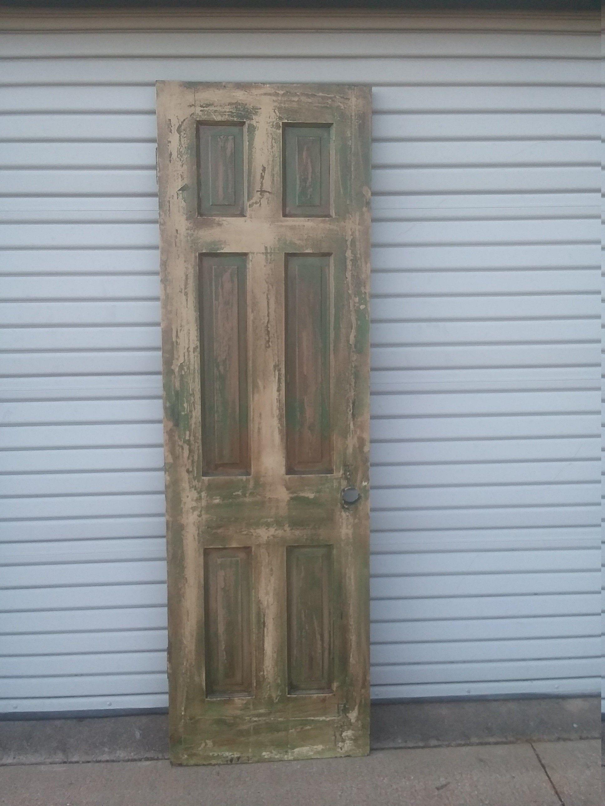 Distressed Door 6 Panel Door 6 Panel Cross Pantry Door Pantry Door 6 Panel Raised Panel 24 Inch Door Rustic Door 24 X 79 1 8 Rustic Doors Distressed Doors Old Wood Doors