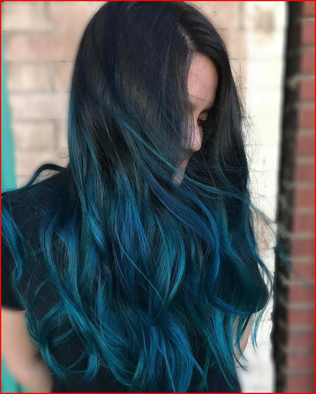 Turquoise Blue Ombre Hair Color
