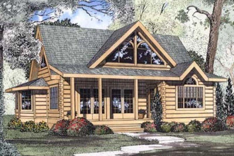 Log Style House Plan 4 Beds 3 Baths 2808 Sq Ft Plan 115 161 Log Cabin House Plans Log Home Plan Cottage Plan