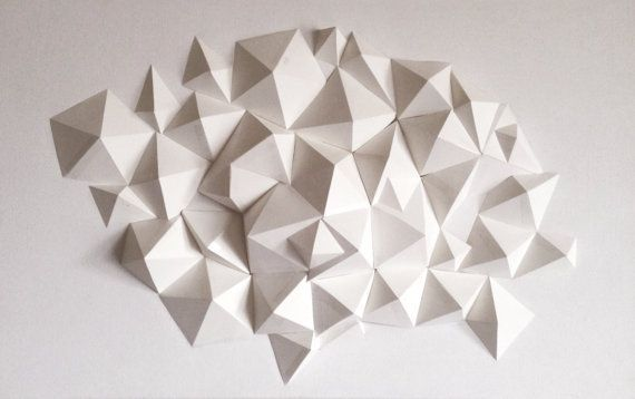 Pin By Madelene Uyehar On Paper Sculpture Wall Sculptures Geometric Origami Geometric Art
