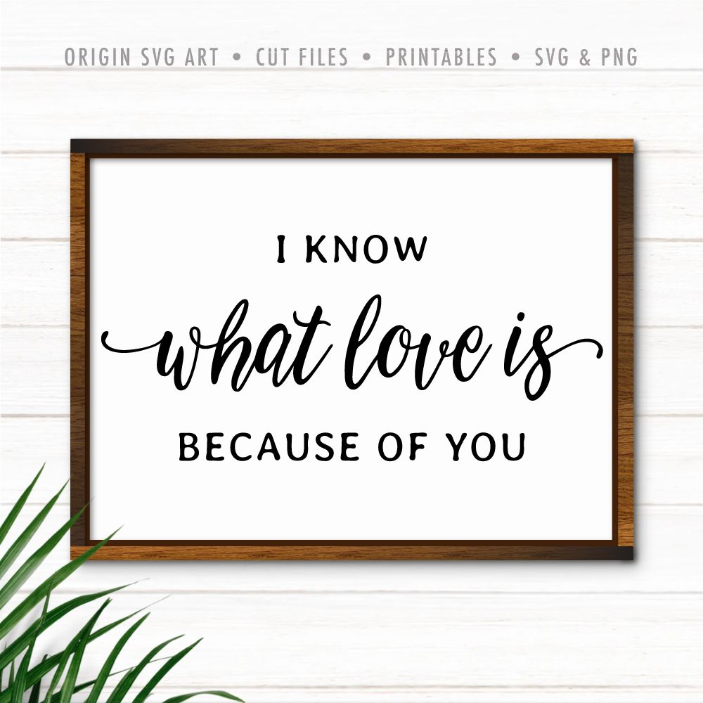Download I Know What Love Is Because of You SVG | What is love ...