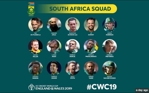 South Africa World Cup Team Squad 2019 South Africa Cricket Team Cricket World Cup England Cricket Team