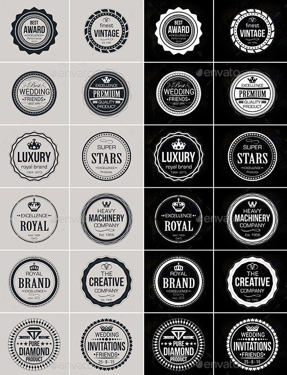Vintage Logo Badges Set Template #design Download: http ...