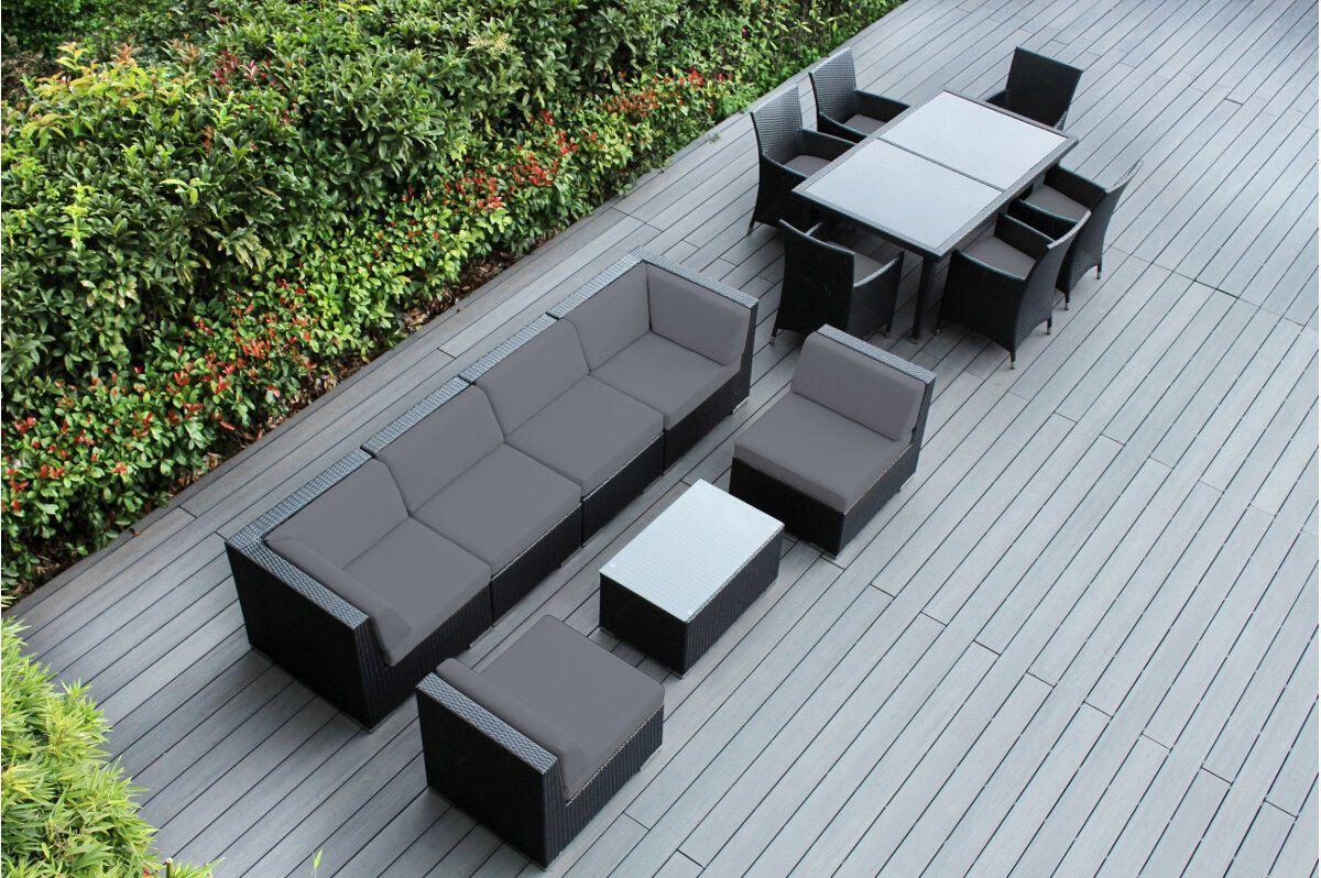 Genuine Ohana Outdoor Sectional Sofa And Dining Wicker Patio
