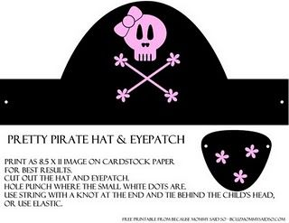 Free Printable Boy And Girl Pirate Hats And Eye Patches Pirate
