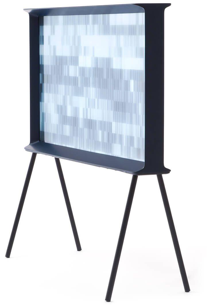 Freestanding Blue Television Samsung Serif TV Design.