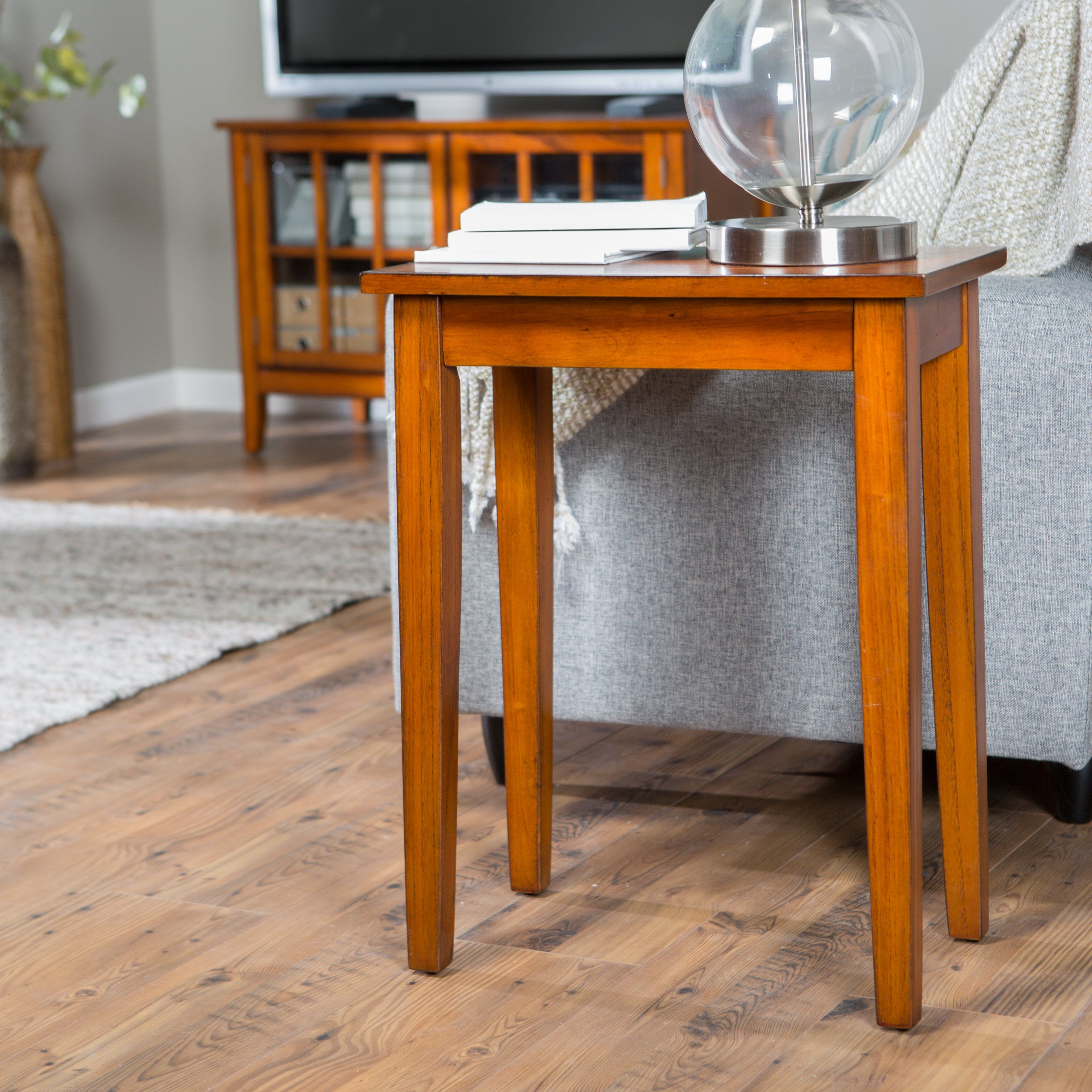 Have to have it. Turner Chair Side Table - Oak - $49.98 @hayneedle ...