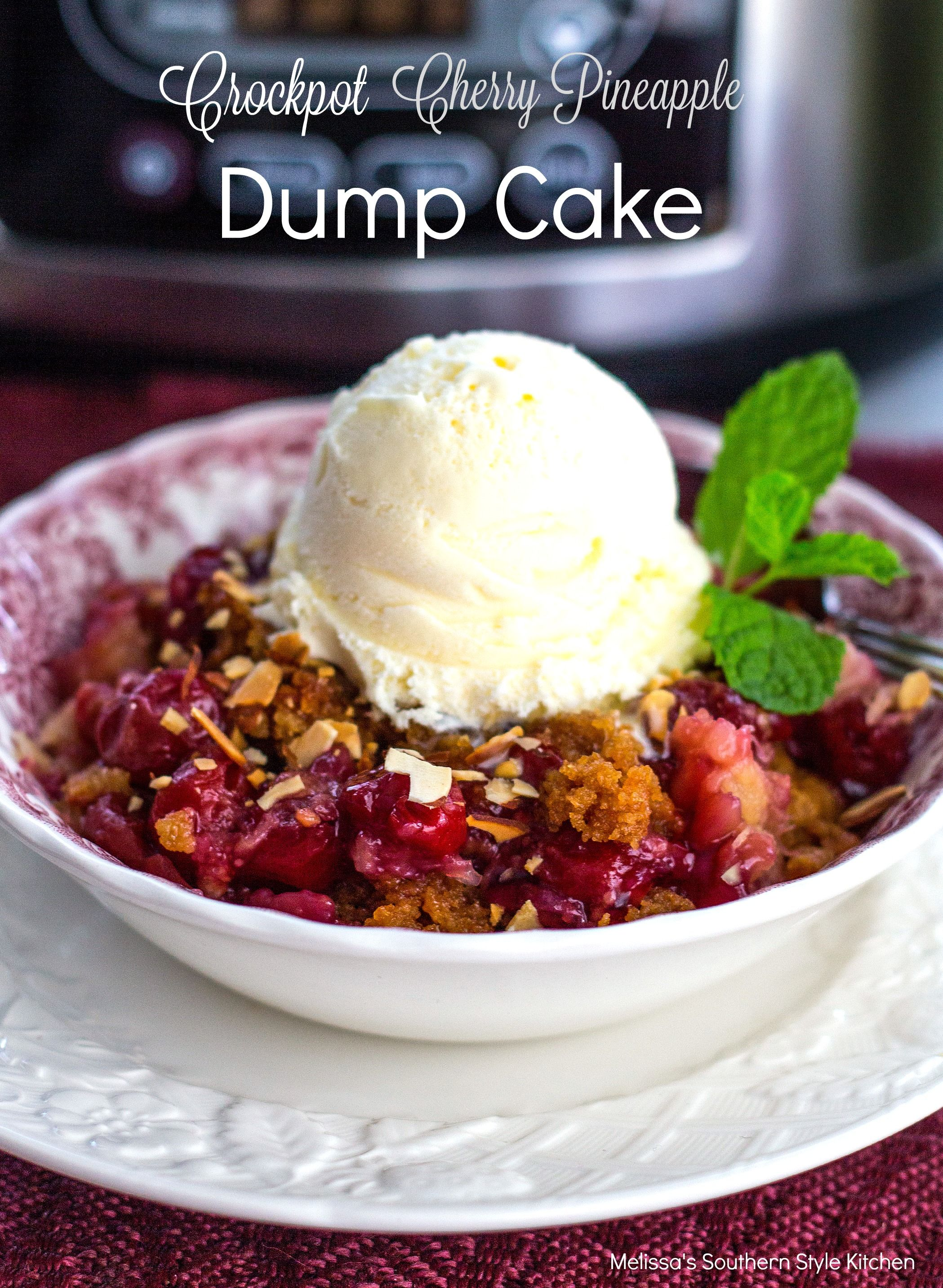 There are few desserts easier to make than dump cakes. Just as the name suggests the ingredients are dumped into one baking dish or crockpot with very little prep work required. They're a fun dessert to make suitable for beginner cook's or reluctant bakers.