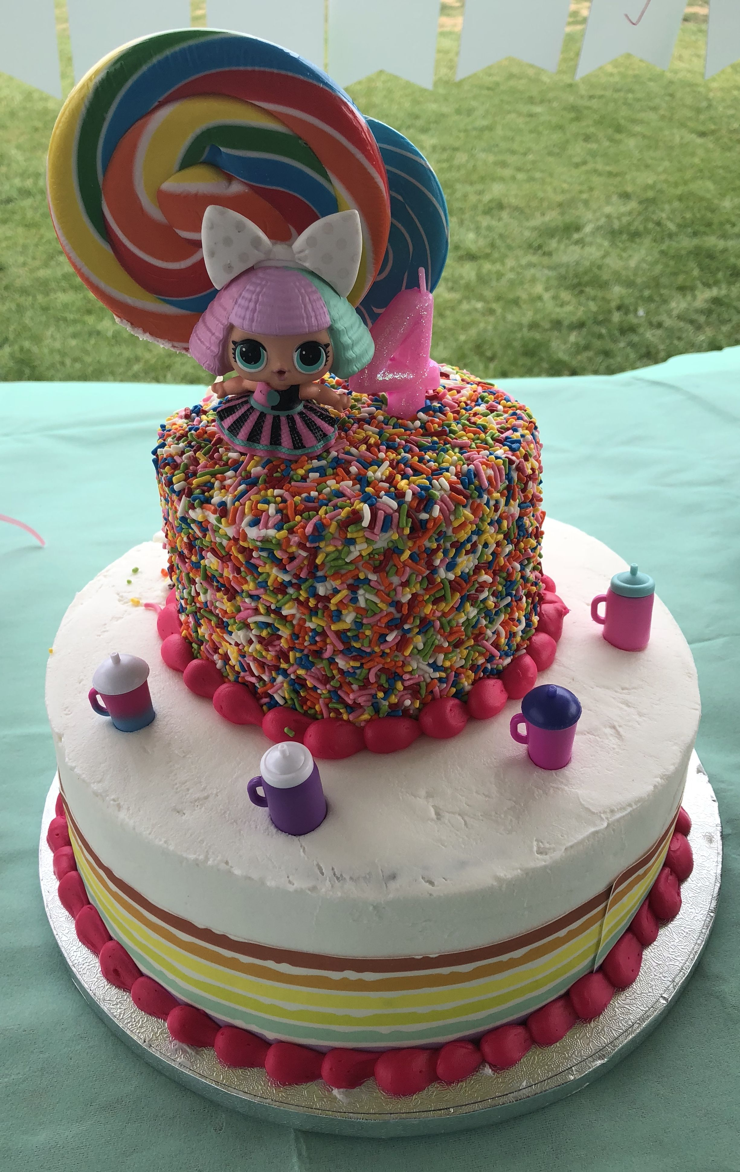 Strange Lol Surprise Doll Cake I Had This 2 Tier Cake Made At Sams Club Funny Birthday Cards Online Alyptdamsfinfo