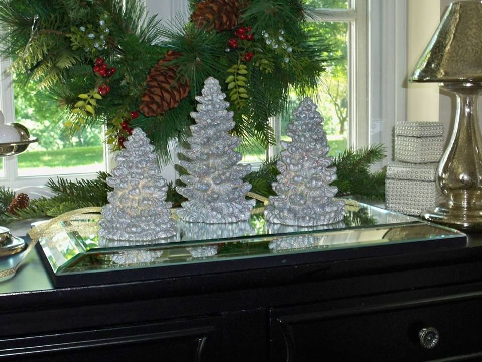3 Piece Glitter Tree Luminaries Shown Here In Silver H201291 Http Qvc Co Shopvalerie Outdoor Christmas Decorations Outdoor Christmas Christmas Decorations