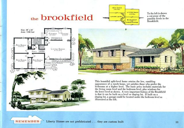 The Split Level House Plan The Brookfield Split Level House Split Level House Plans Split Level