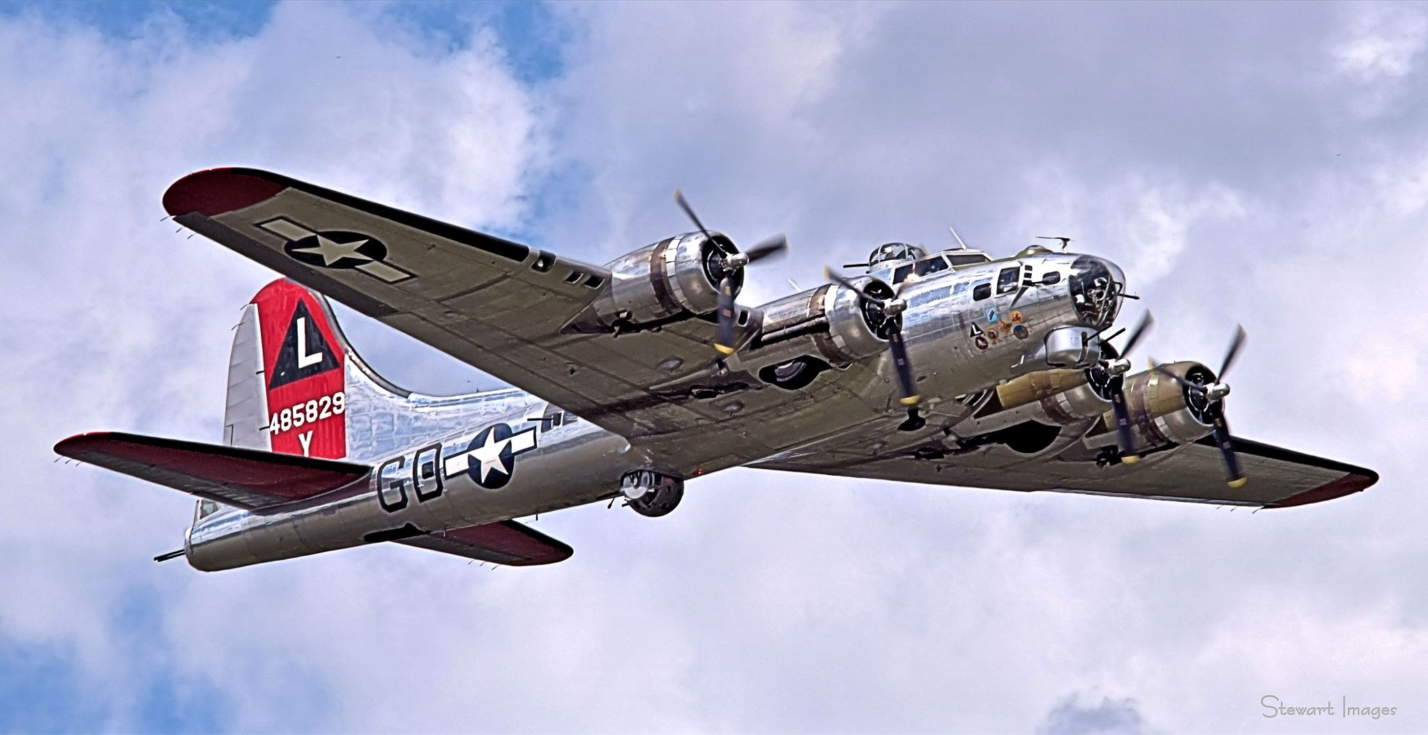 The B17 Yankee Lady is owned by the Yankee Air Force