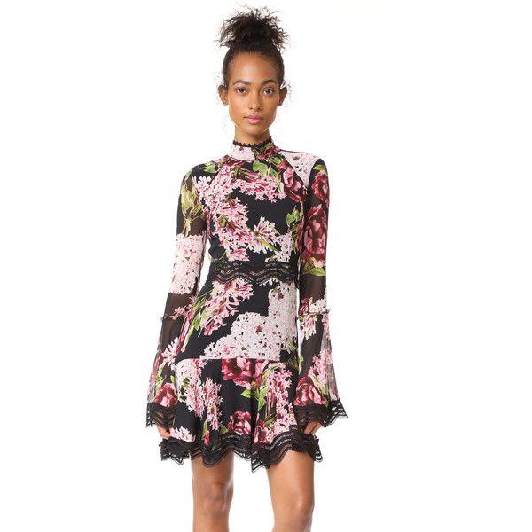 Nicholas Heather Floral Mini Dress (1,175 BAM) Liked On
