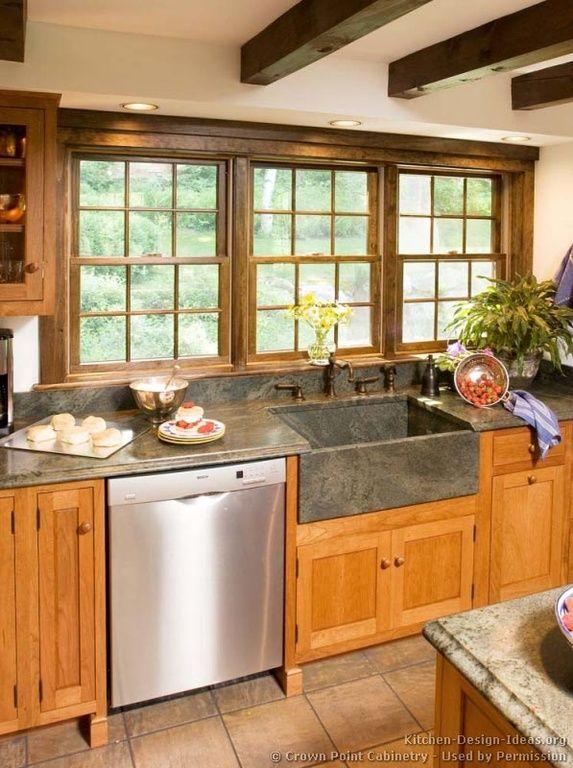 Craftsman Kitchen with Pental Soapstone Select Satin Slab, Farmhouse