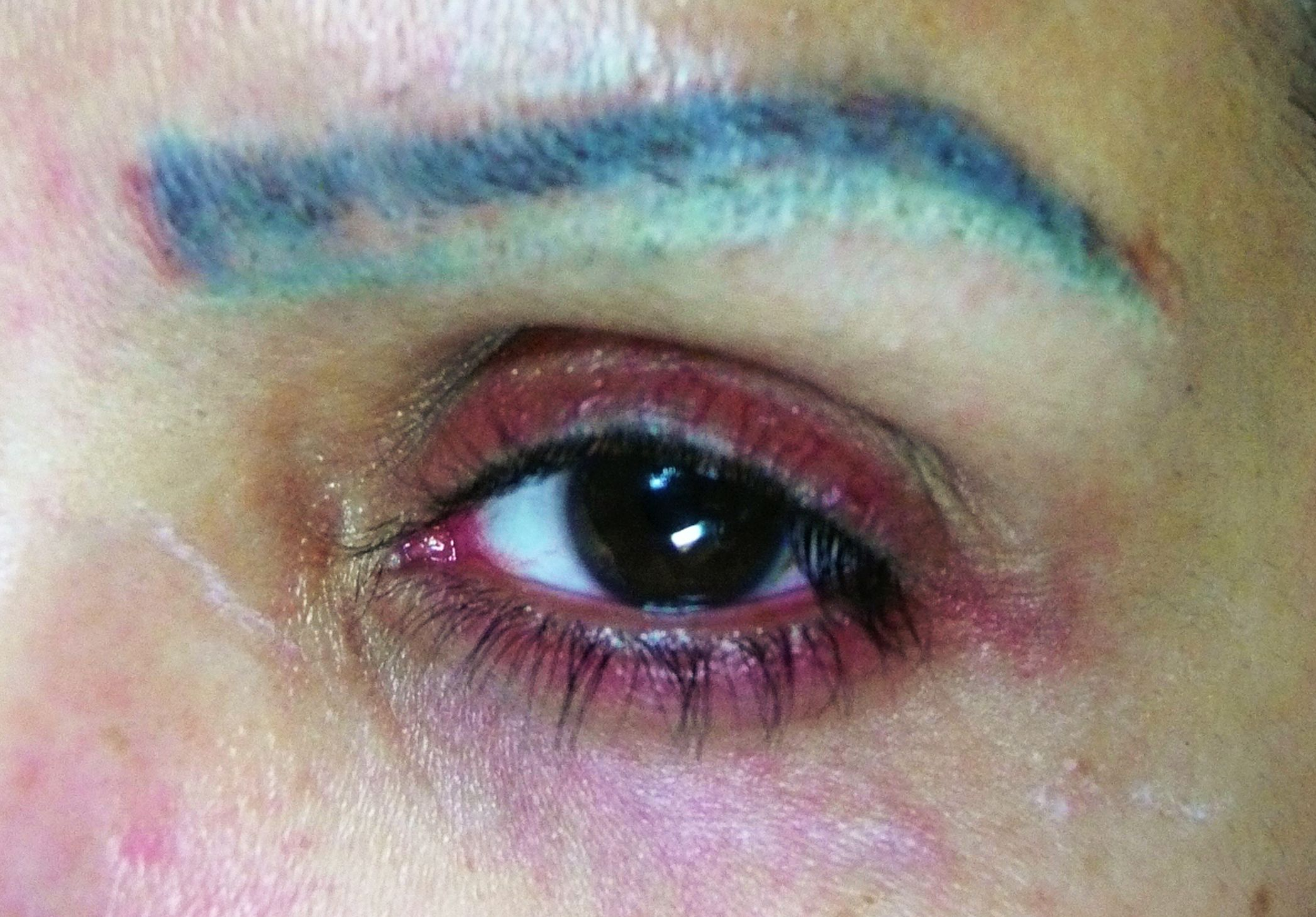 Image result for permanent makeup fails
