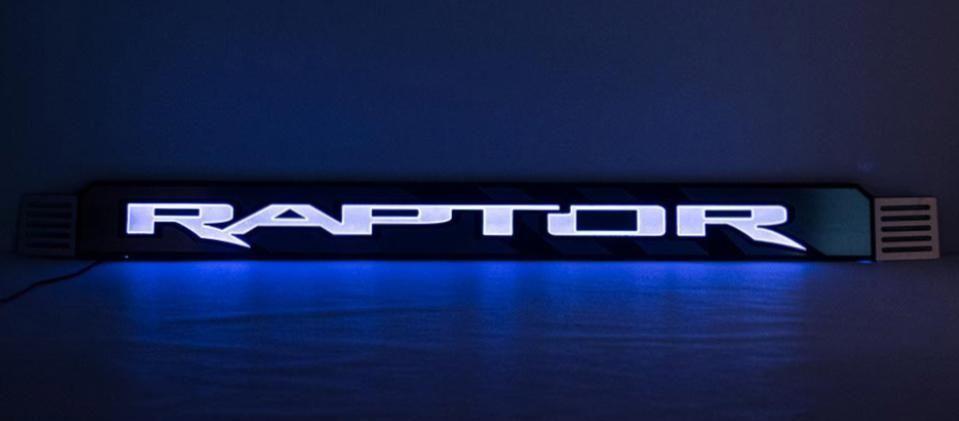 2017 2018 Ford Raptor Center Grille Raptor Logo With Claw Slash Optional Lighting Kit Ford Raptor Ford Raptor 2017 Ford Raptor Accessories