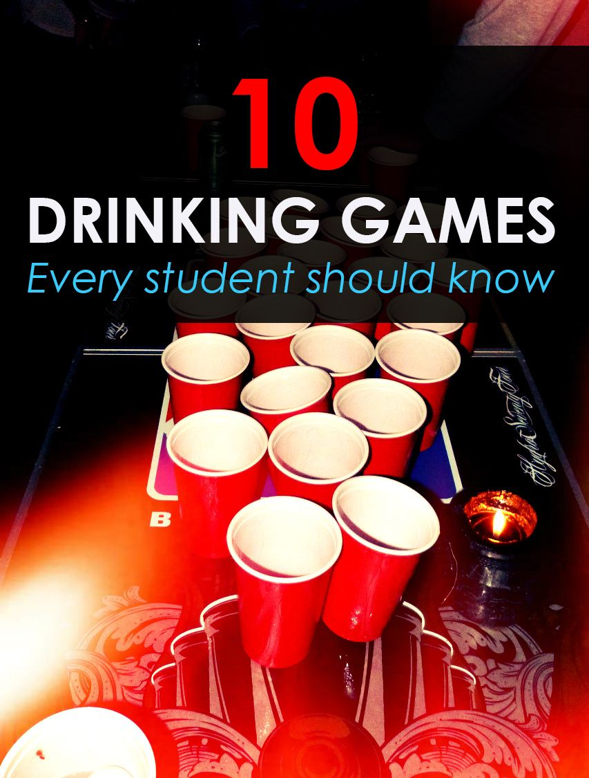 10 Drinking Games Every Student Should Know Party Pinterest